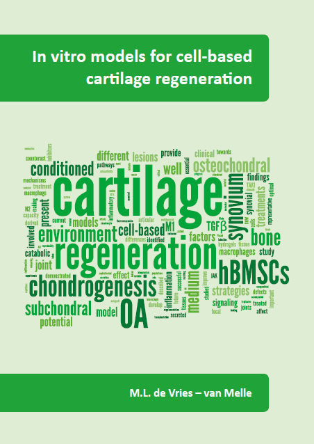 In Vitro Models For Cell-Based Cartilage Regeneration